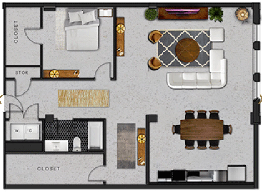 1,373 sq. ft. N floor plan