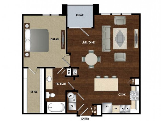 901 sq. ft. A4 floor plan