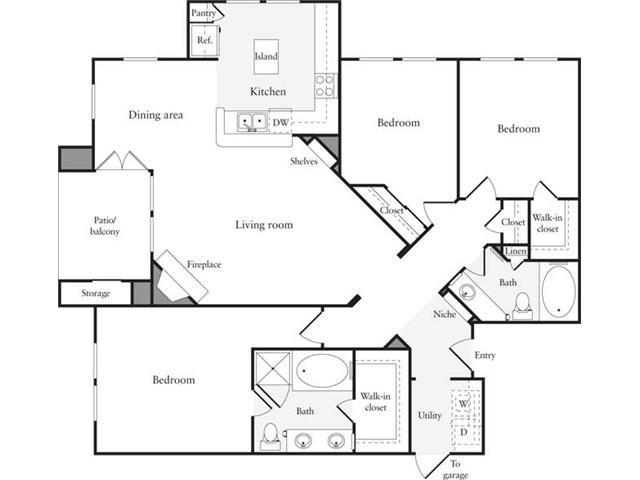 1,339 sq. ft. C1 floor plan