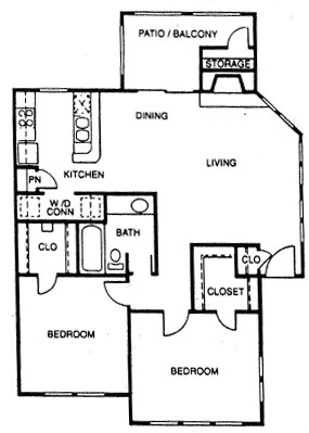 935 sq. ft. F floor plan