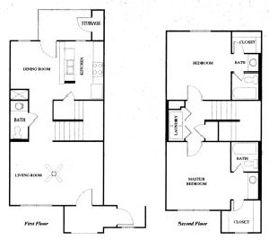 1,295 sq. ft. 60% floor plan