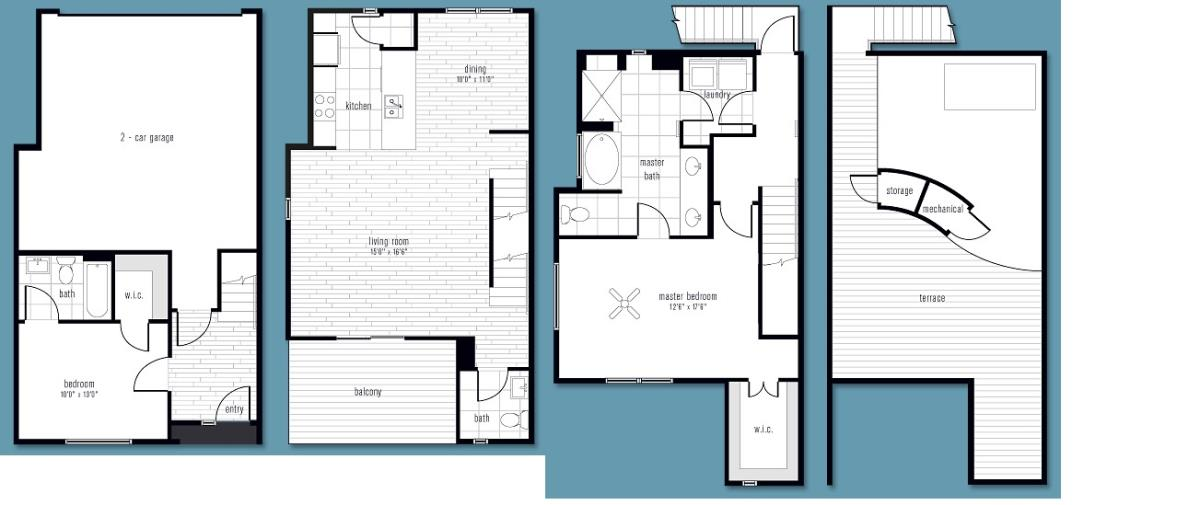 1,659 sq. ft. AA2 floor plan