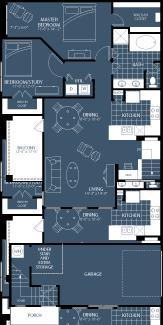 1,177 sq. ft. B2 floor plan