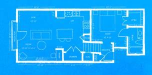 745 sq. ft. L2 floor plan