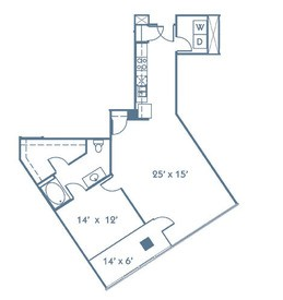 920 sq. ft. A7 floor plan