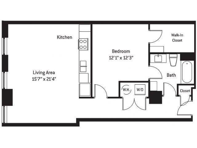 882 sq. ft. AF floor plan