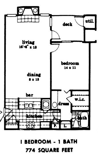 774 sq. ft. floor plan