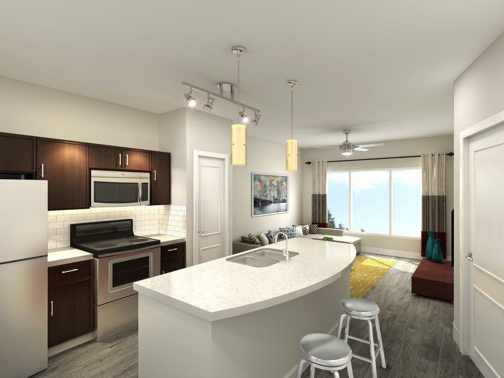 Living/Kitchen at Listing #282820