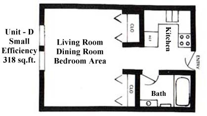 318 sq. ft. floor plan