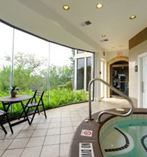 Hot tub at Listing #140606