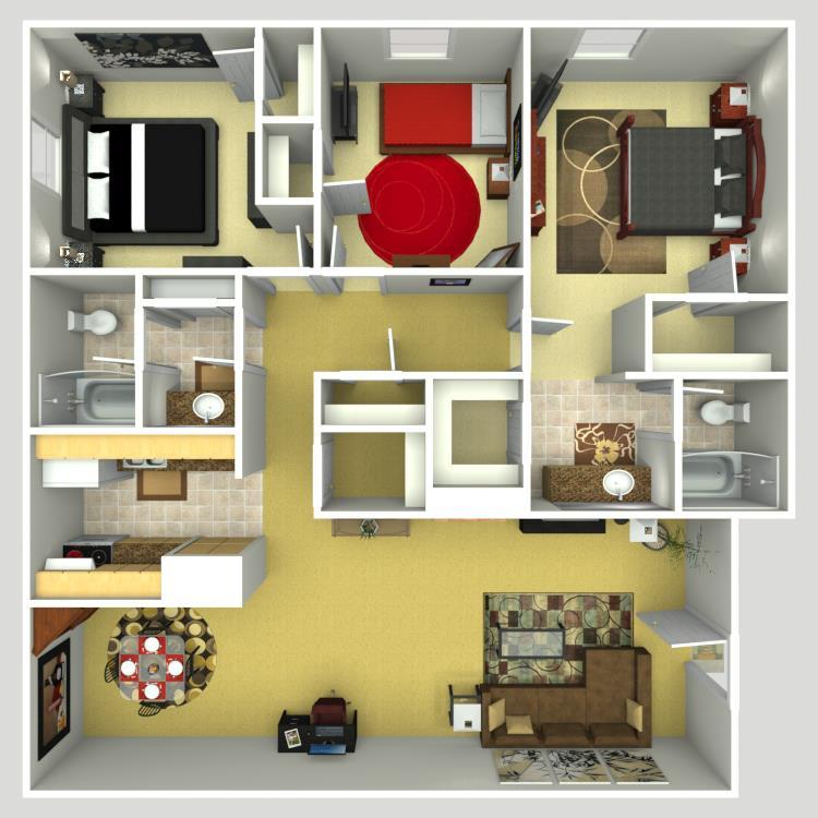 1,450 sq. ft. floor plan