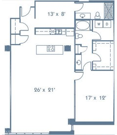 1,456 sq. ft. B6 floor plan