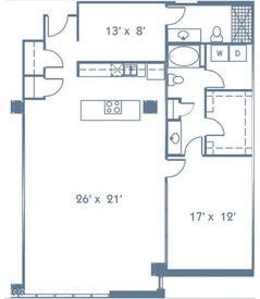 1,456 sq. ft. B6 floor plan
