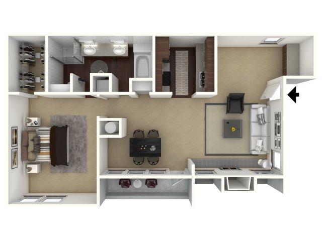 806 sq. ft. Bungalow floor plan