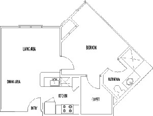 576 sq. ft. MANCHESTER floor plan