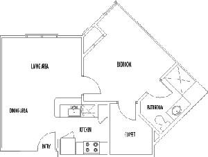 576 sq. ft. MANCHESTER floor plan