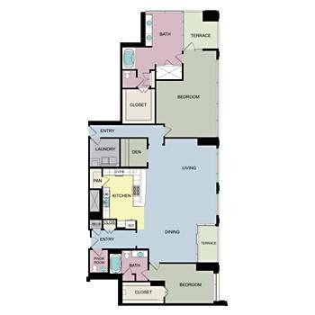 3,108 sq. ft. PH5 floor plan