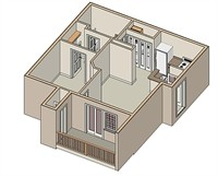 610 sq. ft. Delray/50% floor plan