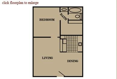 527 sq. ft. floor plan