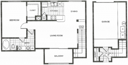 863 sq. ft. C2 floor plan