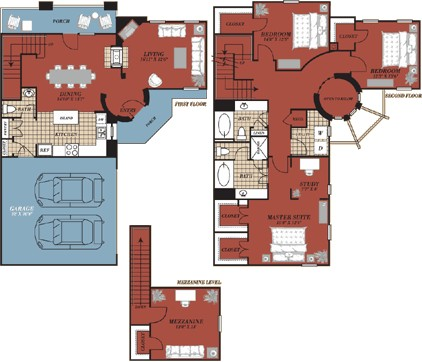2,275 sq. ft. Seville floor plan