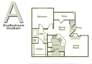 753 sq. ft. AFR floor plan
