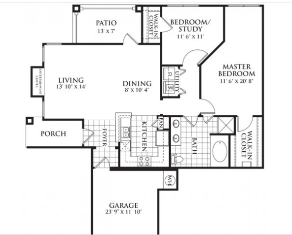 1,098 sq. ft. Colton floor plan