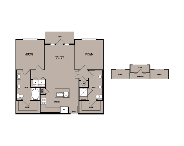 1,093 sq. ft. B1-IS.1 floor plan