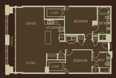 1,699 sq. ft. B5 floor plan