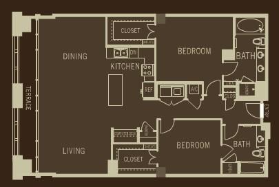 1,594 sq. ft. B5 floor plan