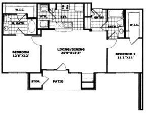 1,012 sq. ft. 60 floor plan