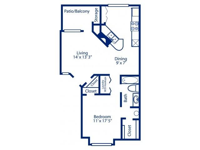 830 sq. ft. A4 floor plan