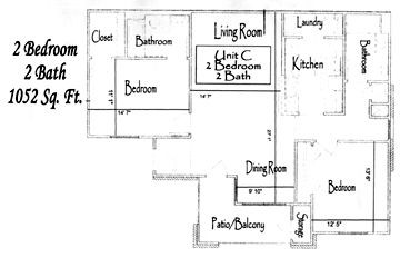996 sq. ft. 60% floor plan