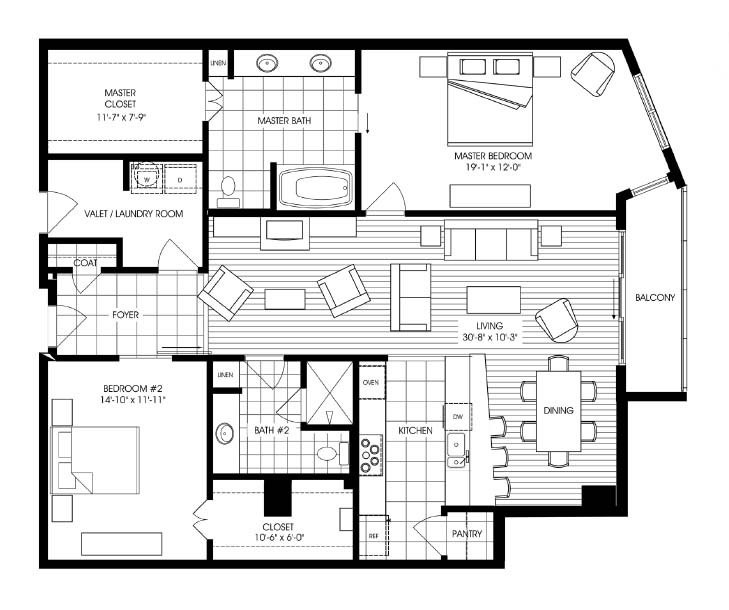 1,683 sq. ft. A14 floor plan