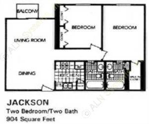 904 sq. ft. Pinewood floor plan