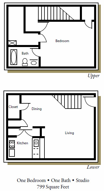 799 sq. ft. G floor plan