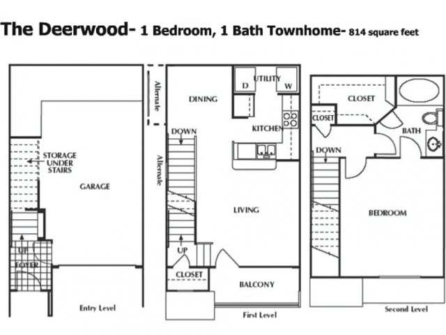 814 sq. ft. to 829 sq. ft. ATH floor plan
