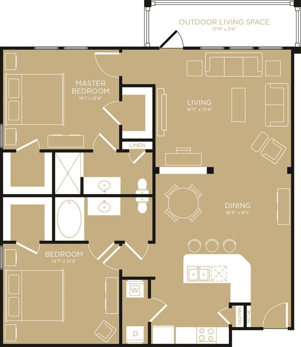1,248 sq. ft. Oasis floor plan
