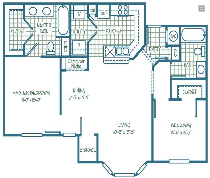 993 sq. ft. ARBOR/30 floor plan