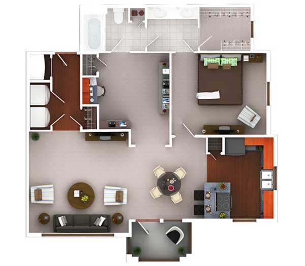 974 sq. ft. A11.1 floor plan