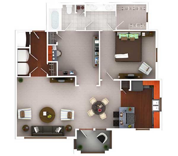 974 sq. ft. A11.1 floor plan