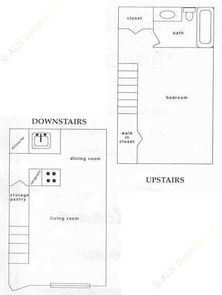 700 sq. ft. ATH floor plan