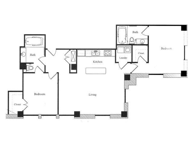 1,162 sq. ft. M floor plan