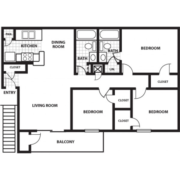 1,017 sq. ft. G floor plan