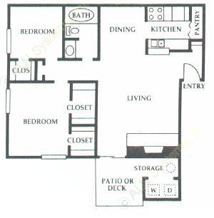 846 sq. ft. E2 floor plan