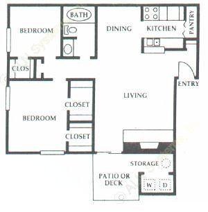 846 sq. ft. E2 floor plan