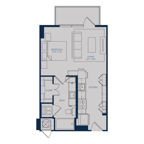 504 sq. ft. to 513 sq. ft. S18 floor plan