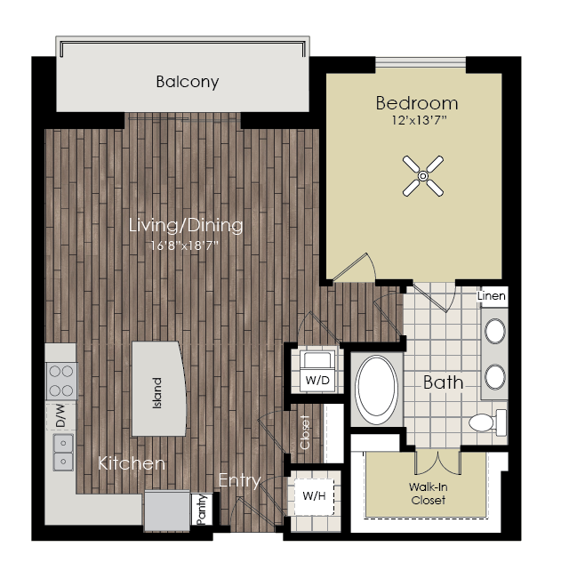 928 sq. ft. A13 floor plan