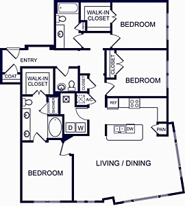 1,660 sq. ft. VALENCIA FOUR floor plan