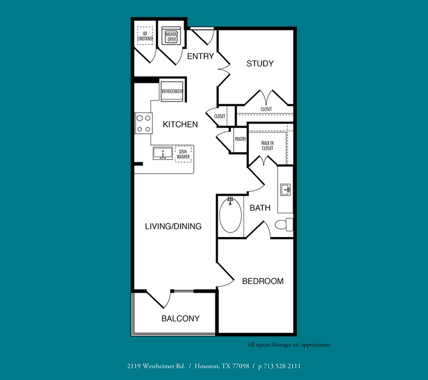 779 sq. ft. A12 floor plan
